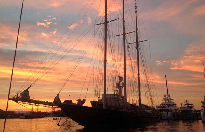 Schooner Atlantic Sunset Newport RI