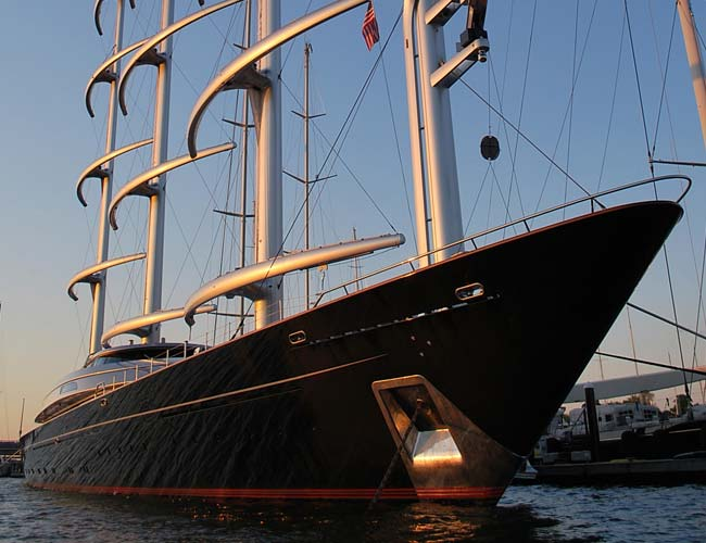 Tour Newport harbor and see mega yachts in the newport shipyard
